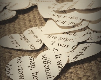 Book paper confetti, wedding confetti, confetti, wedding decoration x 1000