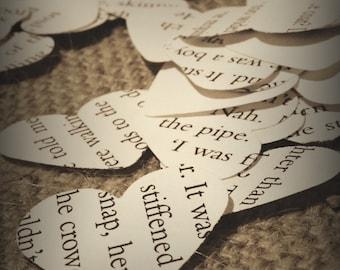 Book paper confetti, wedding confetti, confetti, wedding decoration x 5000