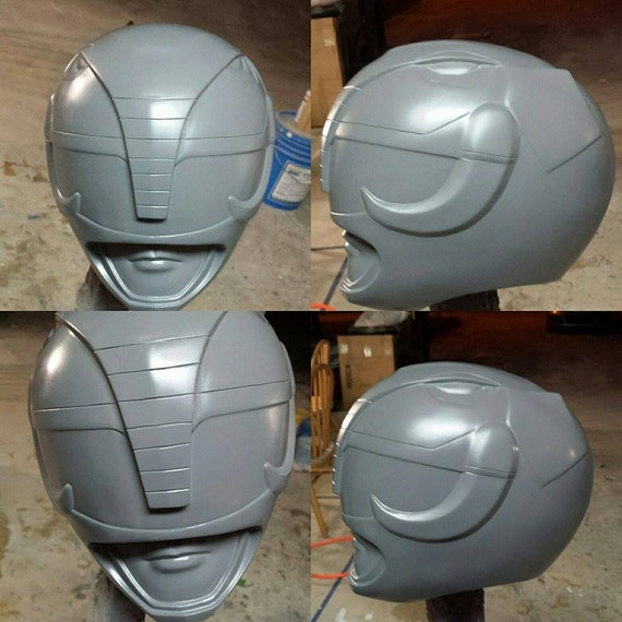 Mighty Morphin Black Power Ranger Helmet Cosplay cast kit