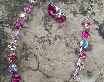 Swarovski necklace/earring set