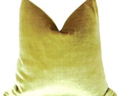 Faux Silk Velvet // Chartreuse Pillow COVER ONLY