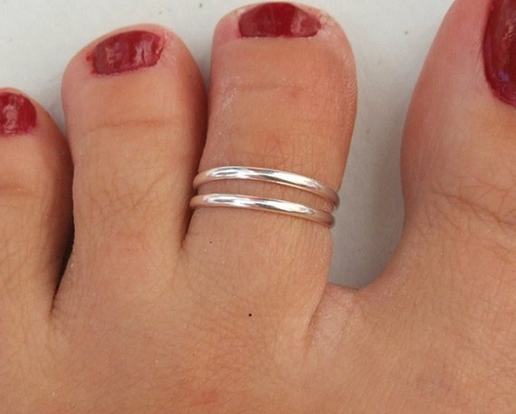 Silver Toe Ring Silver Knuckle Ring Silver Adjustable Ring