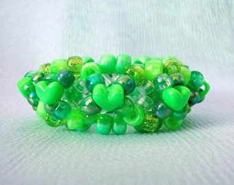 Lovely Green 3D Kandi X Cuff