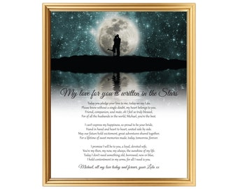 Personalized Groom gift - Groom gift from Bride - Gift for Groom - Poem for Groom from Bride - Wedding day gift for Husband - Husband poem