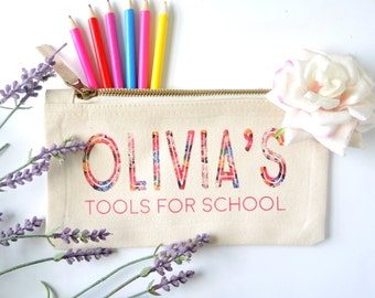 Personalised Tools for School Pencil case. Personalised back to school pencil case. Back to school gift.