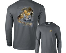 Jumping Walleye Fish walleyed Fishing Long Sleeve T-Shirt