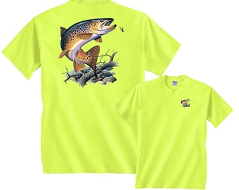 Brown Trout Going for Lure Freshwater Fishing T-Shirt