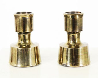 Jens H. Quistgaard Brass Candle Holders for Dansk