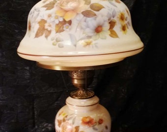 "Large Vintage ""Gone With The Wind"" Parlor Lamp, Hand Painted!"