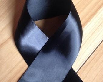 4 yard Rolls Of Ribbon, Black Satin Ribbon, Individual Rolls Of Ribbon, Double Faced Satin Ribbon, Wedding, Ribbon, Craft Ribbon, Black