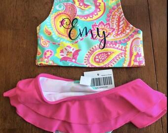 Monogrammed Girls Swimsuit