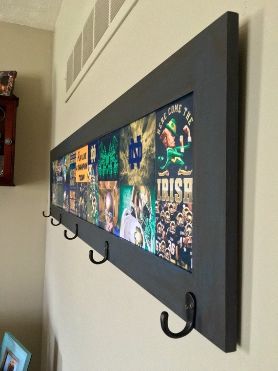 Items similar to notre dame hanging wall decor sports for Notre dame home decor