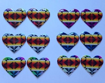 Native American Pendleton Heart Cabs- 1 inch