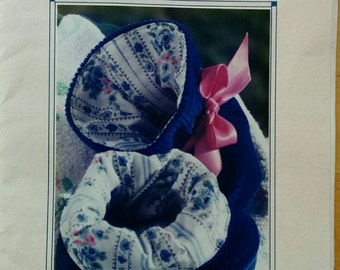 Baby Size 6-12 Months, Slipper, Bootie Sewing Pattern