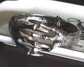 Hinged Claw Bracelet Silver Talon