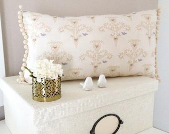 Pillow with bird