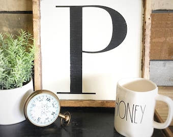 Letter Sign, initial, sign, wooden sign, custom sign, name sign