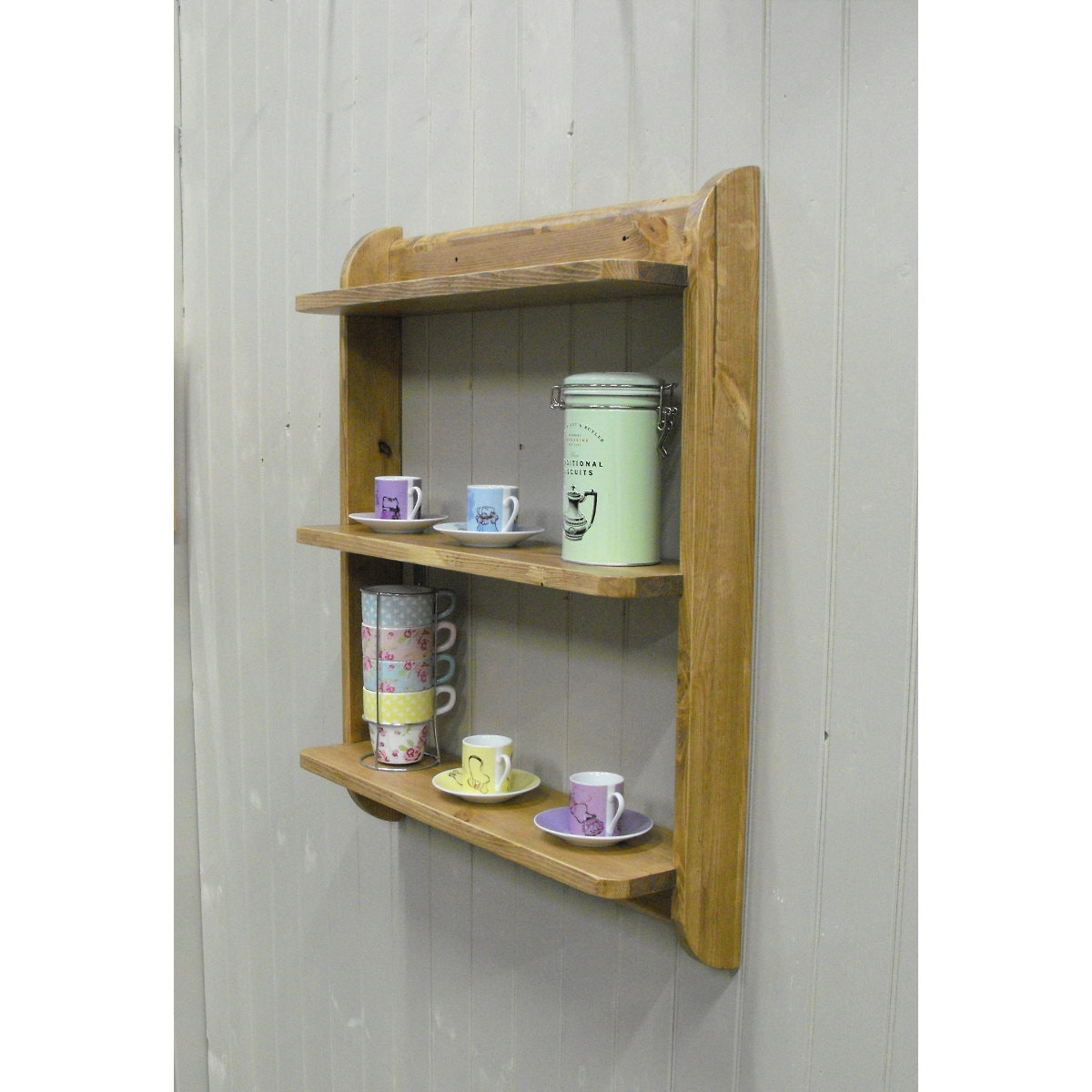 Shelves For Kitchen Wall: Wall Mounted Shelf Unit. Kitchen Shelves Or Cd Dvd And