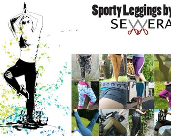 Sporty Leggings sewing pattern & instruction by Sewera