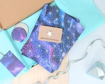 Galaxy Print Stationery Set - Space Gift Set - Constellation print gift set for her - Galaxy lucky box - Birthday gift