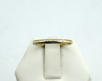 Wonderful Vintage Art Deco Patterned 14K Green Gold and Yellow Gold Band #GGYGAD-B1