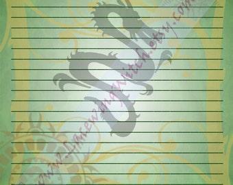 Year of the Dragon, Dragon Zodiac, Chinese Zodiac, Chinese Astrology, Chinese Stationery, Stationery Page, Zodiac Stationery, Astrology