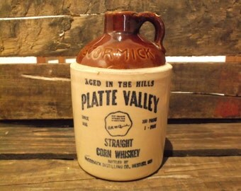 McCormick Platte Valley Straight Corn Whiskey Jug, circa 1970's