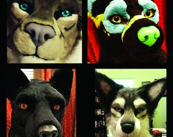 MADE TO ORDER!  Custom Fursuit Mask. Moving Jaw.  Payment Plan Available.