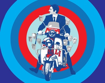 Quadrophenia 1979 Stretched Canvas Movie Poster Choice of sizes available.