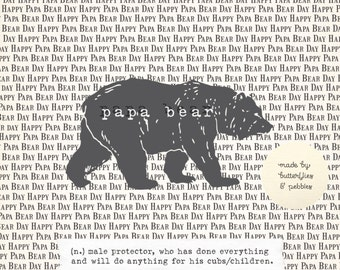 Father's Day Card. Papa Bear. Celebration.