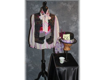 Mad Hatter / Alice in Wonderland / Fairytale / Through the Looking Glass / Tea Party Costume-Medium-Large (A85)
