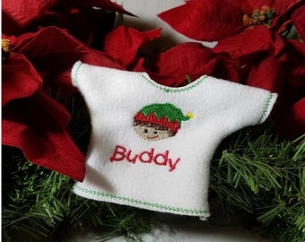 Personalized embroidered elf shirt for elf doll - fashion doll - elf shirt - elf sweater - scout elf