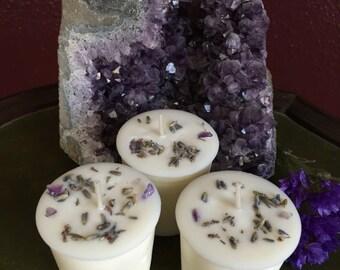 Lavender Meditation Votive Candles
