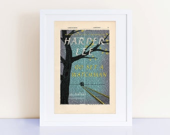 Go Set a Watchman by Harper Lee Print on an antique page, book cover art