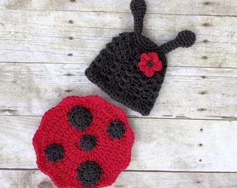 Newborn Ladybug Outfit/ Photography Prop