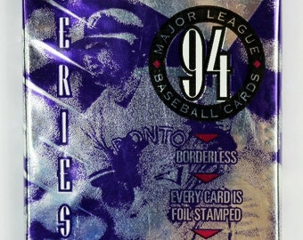 Vintage 1994 Donruss Baseball Trading Cards MLB Wax Pack 94 Series 1 Leaf