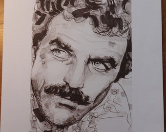 A Portrait Of Tom Selleck