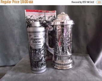 Summer Sale 25% Vintage Avon Hunters Stein Decanter Bottle with Deep Woods After Shave