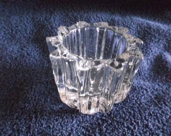 Vintage Avon Votive Round Clear Glass Votive Candle Holder
