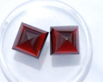 Pyrope Garnet, One Piece, Clean, Square cabochon, Sugarloaf cut, Rich deep red Color, 10mm, C2331