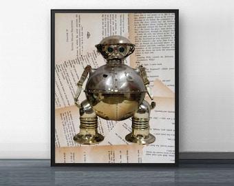 TIK TOK - art print - return to oz - 80's - dorothy - emerald city - baum - disney - tin man - scarecrow - gift - poster - wall art - army