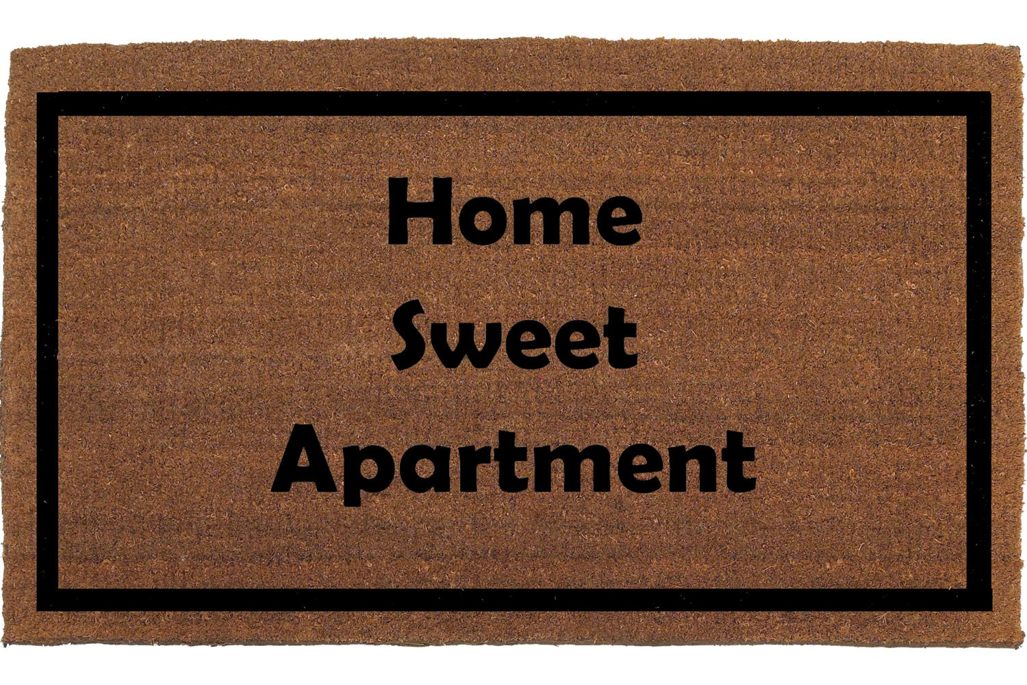 Home Sweet Apartment Door Mat Coir Doormat Rug By