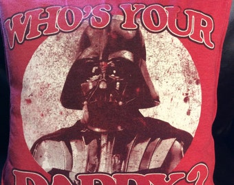 "Upcycled T-Shirt Pillow - Darth Vader Star Wars 14""x14"""