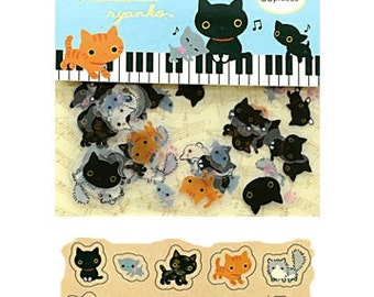 NEW 80Pcs Japanese Kutusita Nyanko lucky cat Flake sticker Pack