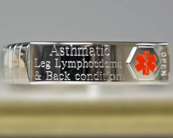 Medical ID Bracelet- Medical Alert- FREE ENGRAVING
