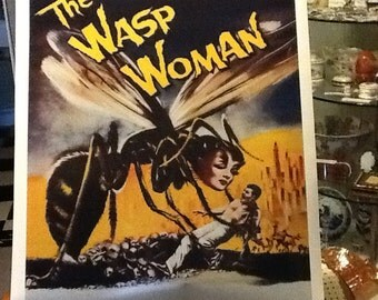 """1959 Repro movie poster of """"The Wasp Woman"""""""