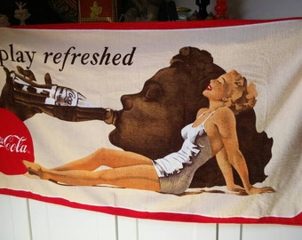 Vintage Coca Cola beach towel