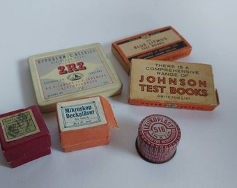 Small lot of vintage medical items litmus leukoplast