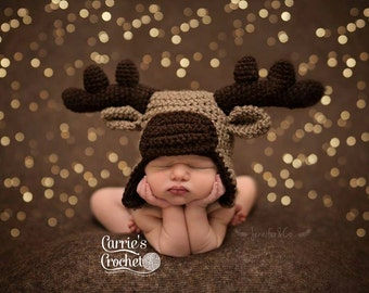 Crochet Moose Hat -- Best Seller!