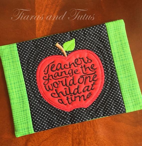 Mug Rug Snack Mat Coaster Teacher Mug Rug Teacher Gift